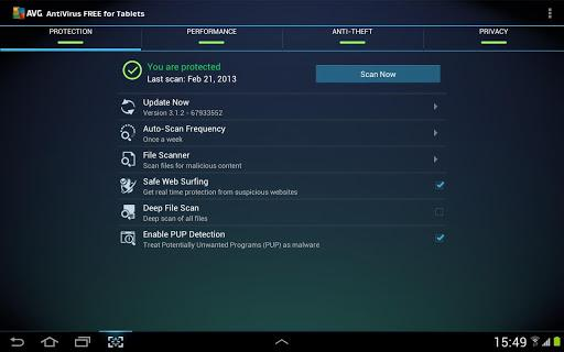 AntiVirus FREE para Tablet - Imagem 1 do software