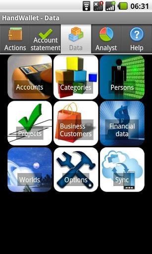 Expense Manager HandWallet - Imagem 1 do software