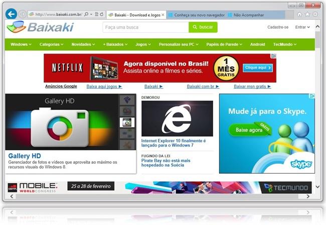 Internet Explorer 10.