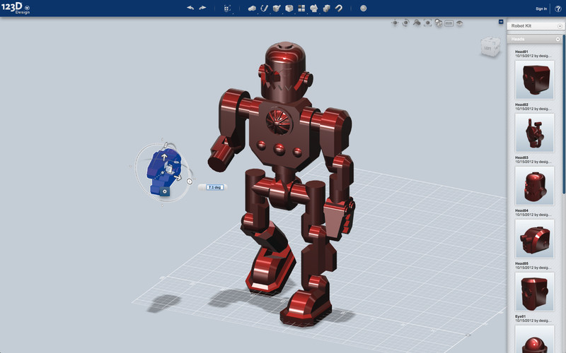 Autodesk 123D - Imagem 1 do software