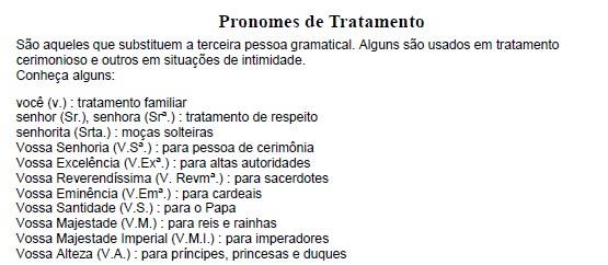 material de português