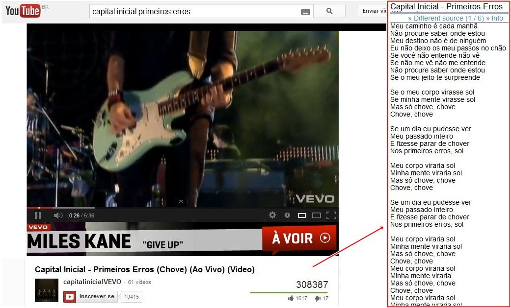 YouTube Lyrics para Internet Explorer - Imagem 1 do software