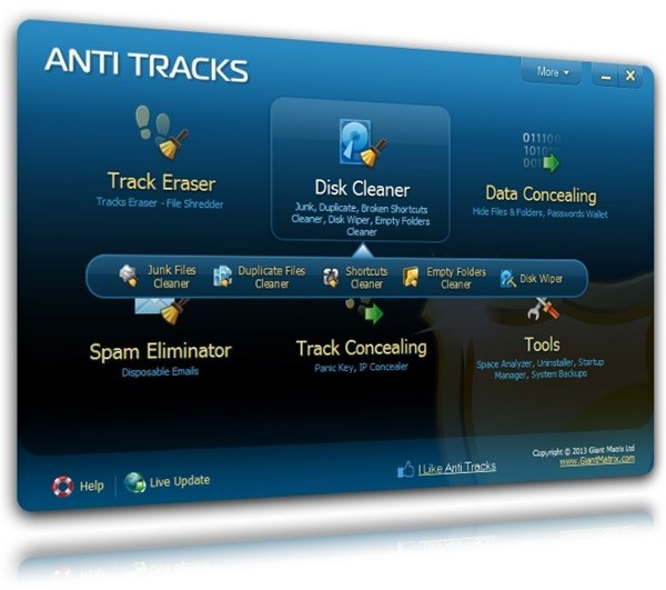 Anti Tracks Free Edition.