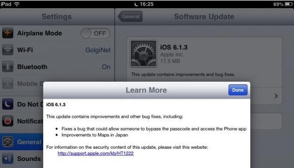 apple lança atualização para o ios 6 1 3 tecmundo