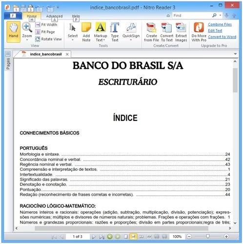 Apostila Banco Do Brasil Escriturario 2013 Pdf