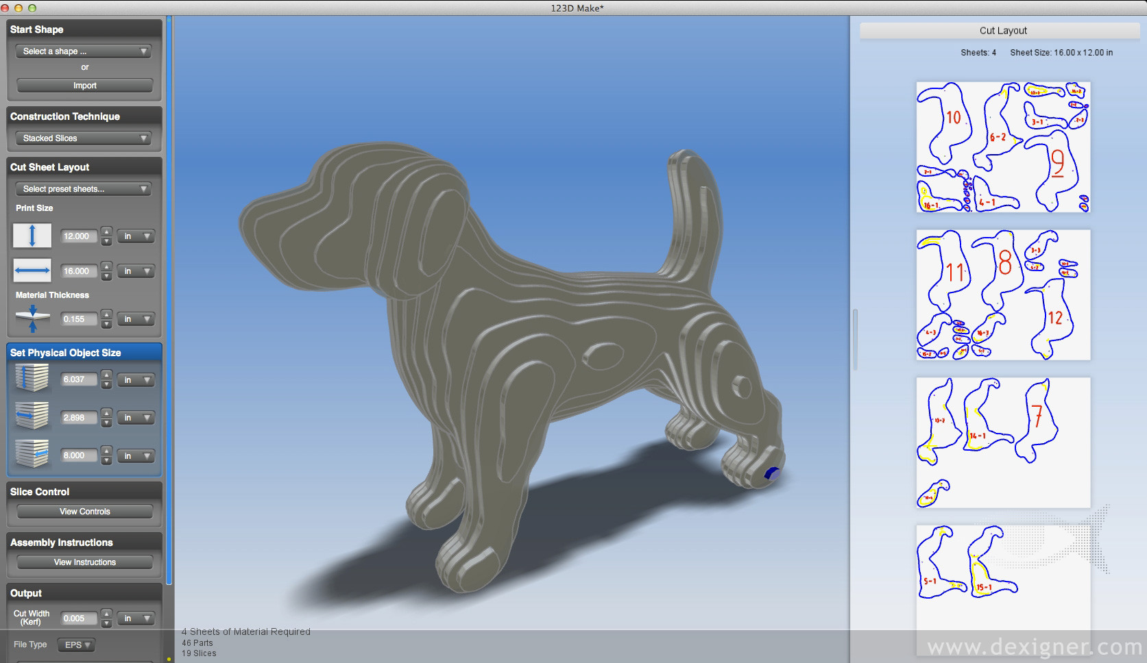 Autodesk 123D Make - Imagem 1 do software