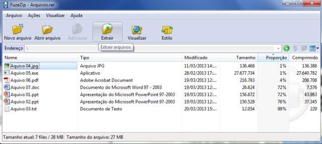 FuzeZip - Imagem 1 do software
