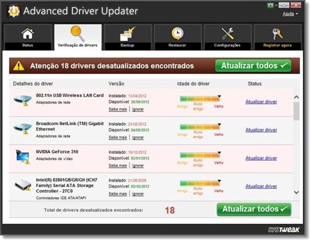 Advanced Driver Updater - Imagem 1 do software