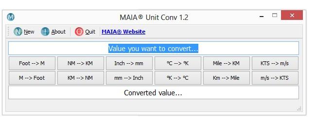 MAIA Unit Converter