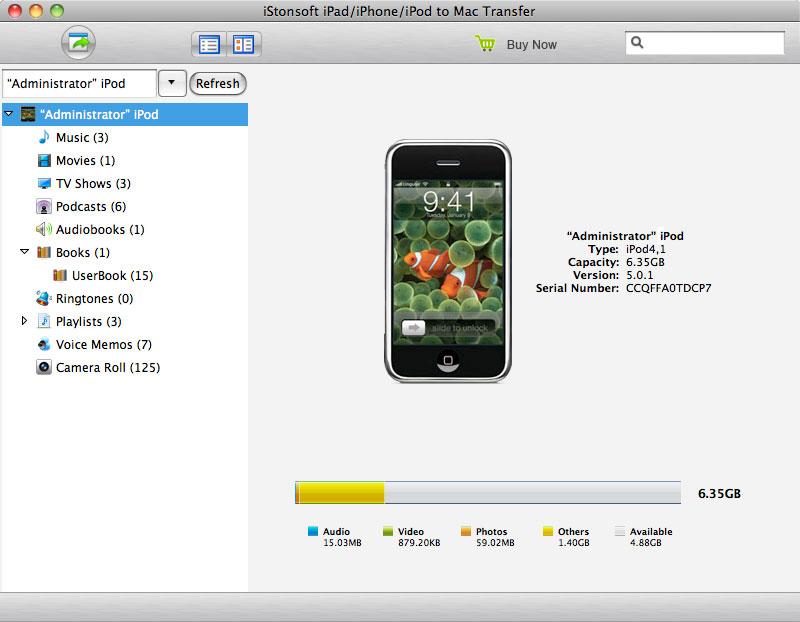 iPad/iPhone/iPod to Mac Transfer - Imagem 1 do software