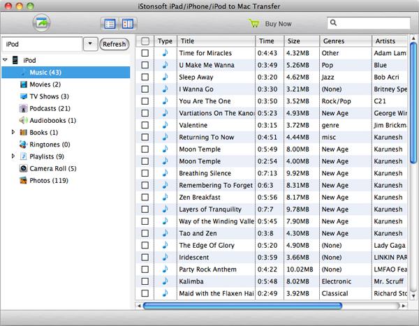 iPad/iPhone/iPod to Mac Transfer - Imagem 2 do software