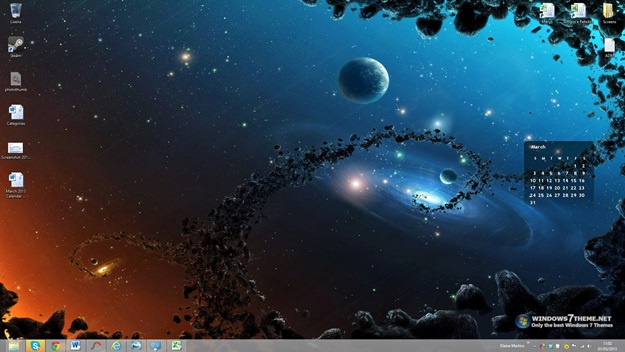 March 2013 Calendar Windows 7 Theme - Imagem 1 do software