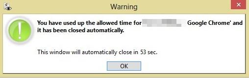 Se o tempo passar, você não pode mais abrir o app.