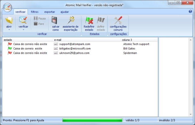 Atomic Email Verifier - Imagem 1 do software