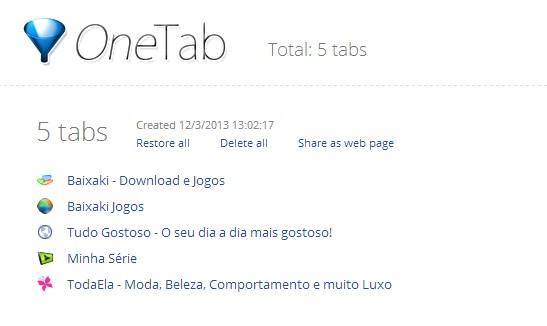 OneTab.