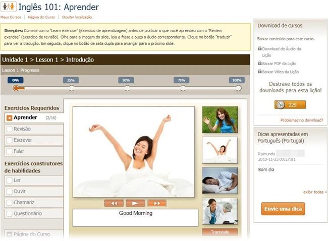 LiveMocha - Imagem 2 do software