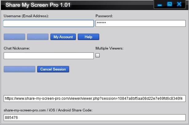 Share My Screen Pro - Imagem 1 do software