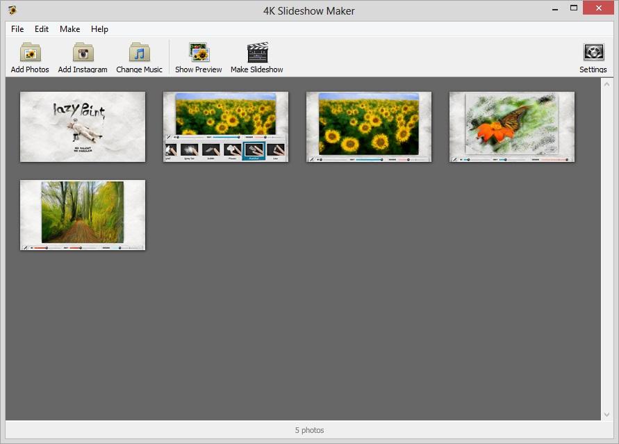 4K Slideshow Maker - Imagem 1 do software