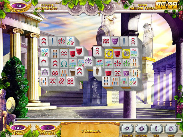 Mahjong Mysteries - Ancient Athena Deluxe.