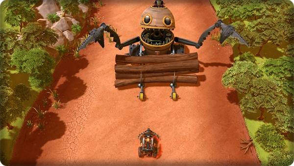 Um dos chefões é um robô gigante