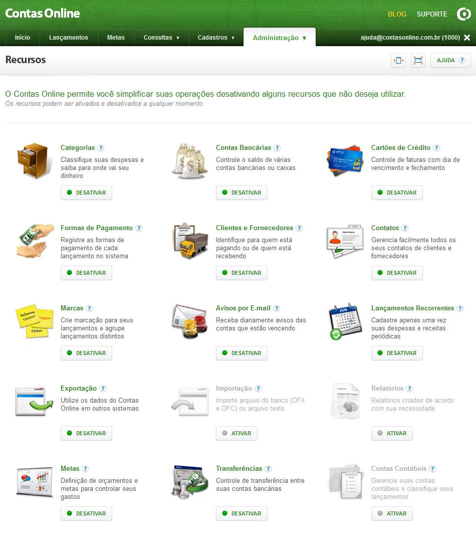 Contas Online - Imagem 2 do software