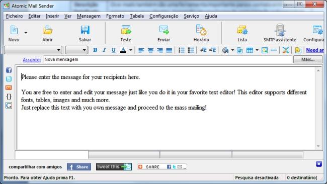 Atomic Email Sender - Imagem 1 do software
