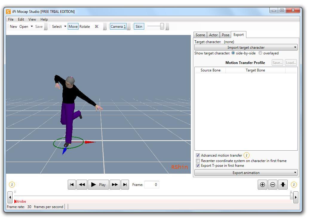 iPi Mocap Studio - Imagem 1 do software