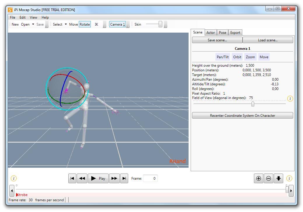 iPi Mocap Studio - Imagem 2 do software