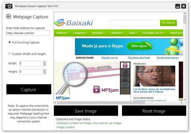 Captura de site