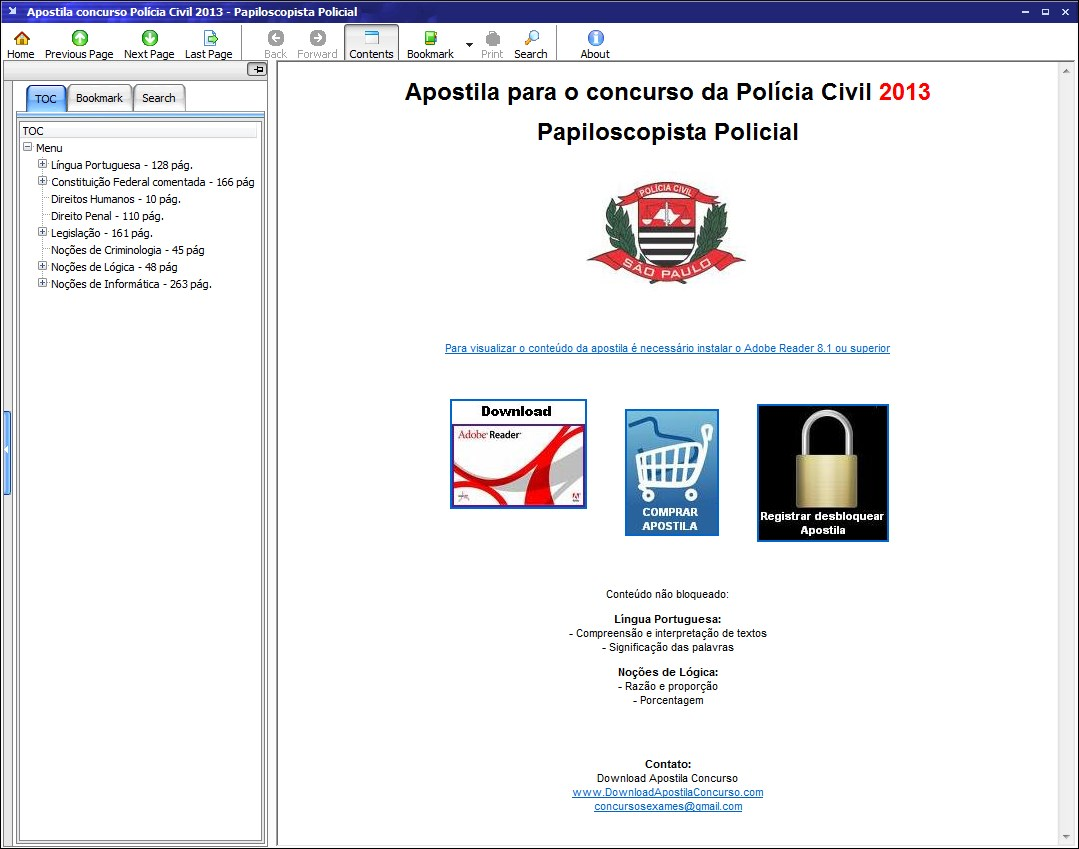 Apostila Polícia Civil 2013.