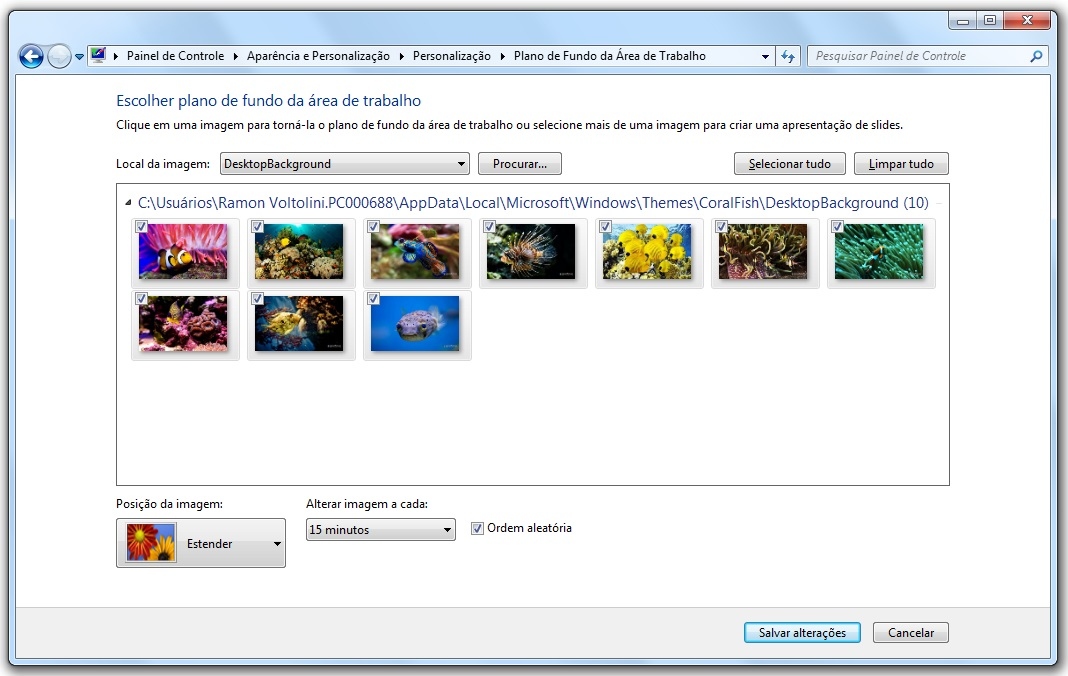 Coral Fish Windows 7 Theme - Imagem 2 do software