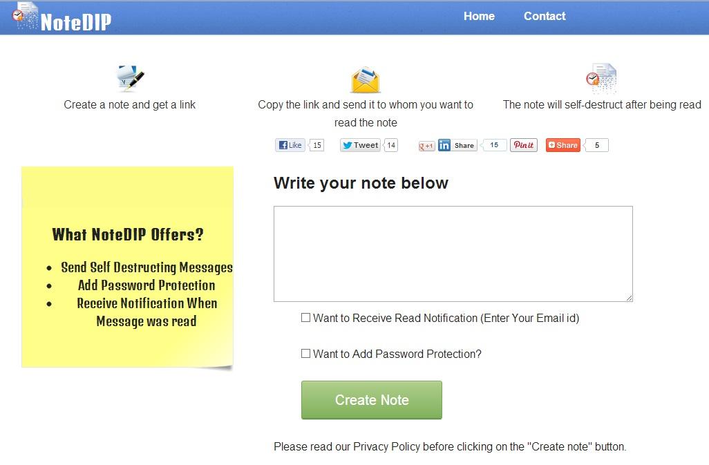 NoteDIP - Imagem 1 do software