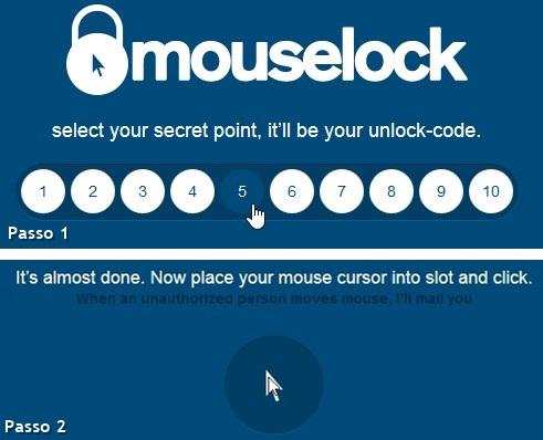 Escolha o número e bloqueie o computador