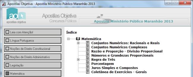 Apostila Concurso Ministério Público do Maranhão 2013 - Imagem 1 do software
