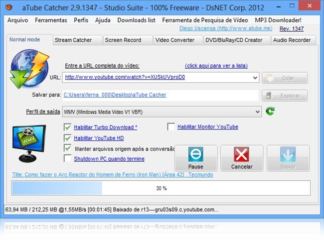 aTube Catcher - Imagem 1 do software