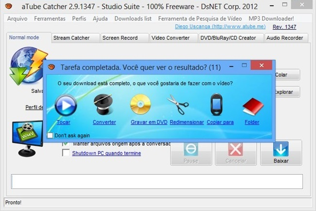 VIDEO STREAMING CON ATUBE CATCHER SCARICARE