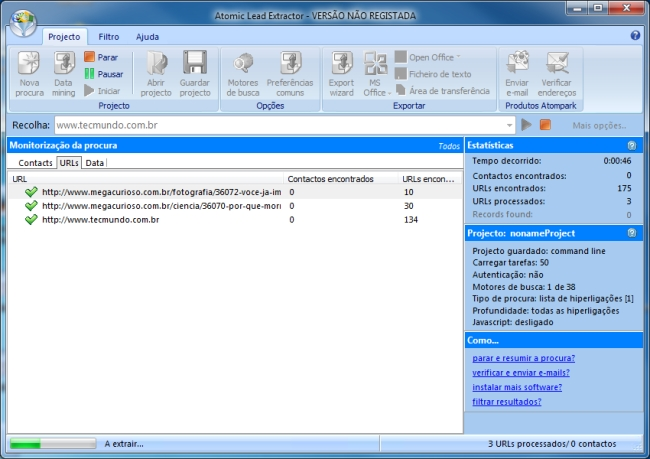 Atomic Lead Extractor - Imagem 1 do software