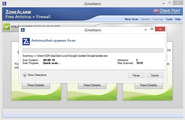 ZoneAlarm Free Antivirus + Firewall 2013