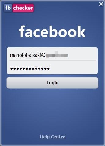 Entre com sua conta do Facebook.