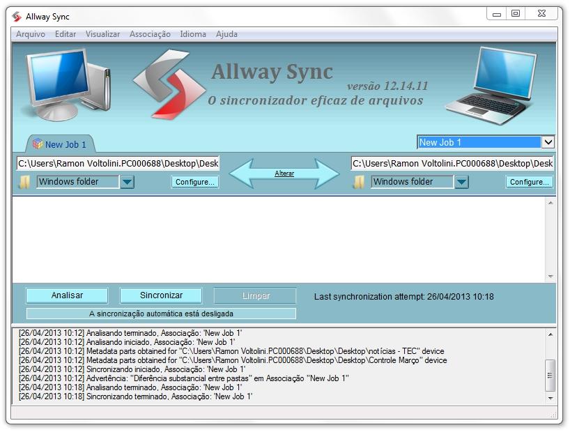 Allway Sync - Imagem 1 do software