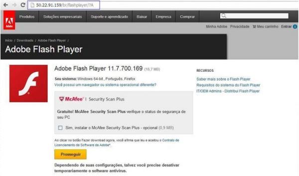 Vrus usa atualizao do flash player para infectar pcs tecmundo reproduo de site infectado pelo vrus fonte da imagem reproduoportal ebc reheart Choice Image