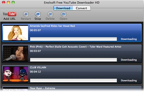 Free YouTube Downloader HD for Mac - Imagem 1 do software