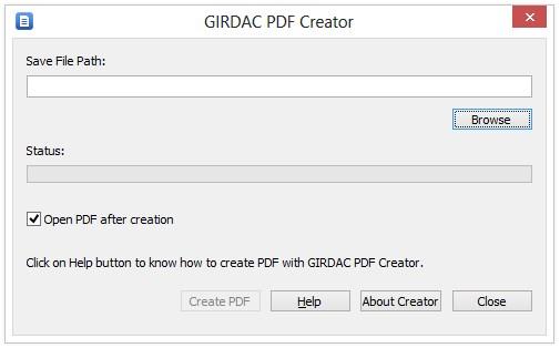 GIRDAC Free PDF Creator Download para Windows Grátis
