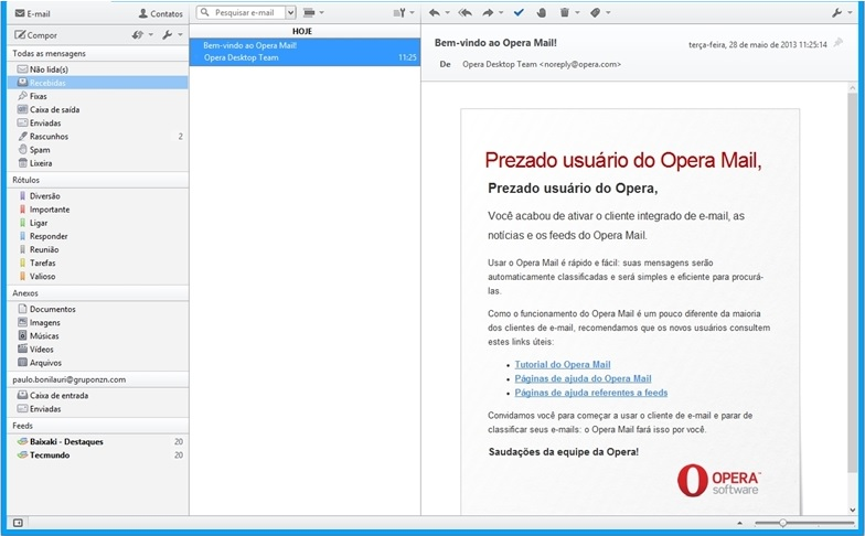 Opera Mail - Imagem 1 do software