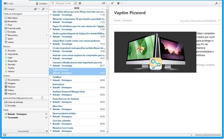 Opera Mail - Imagem 2 do software