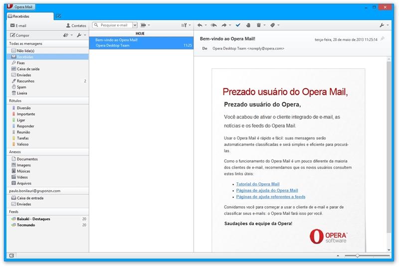 Opera Mail Download para Windows em Português Grátis