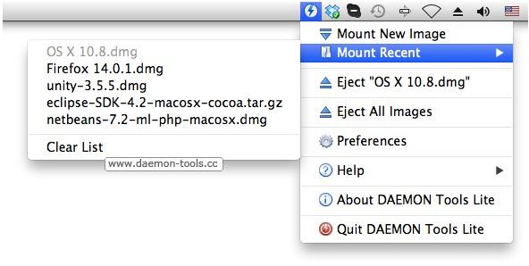 DAEMON Tools Lite - Imagem 1 do software