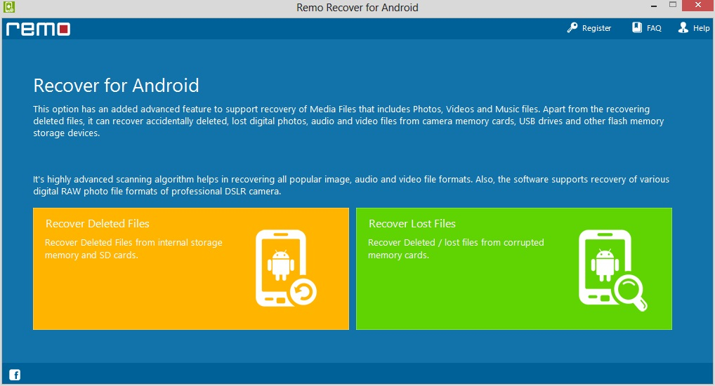 Remo Recover for Android - Imagem 1 do software