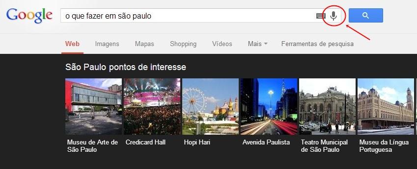 Fale o que quer saber do Google.