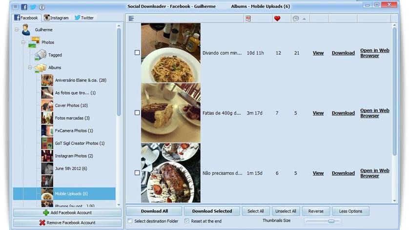 Social Downloader - Imagem 2 do software